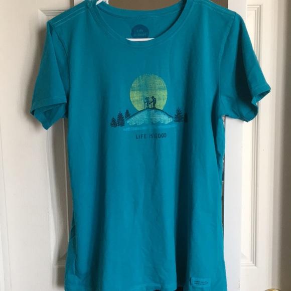 2f65f5bbfa1 Life Is Good Tops - Blue Life is Good Shirt